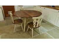 Ercol elm dining table and chairs