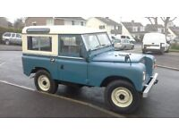 """LAND ROVER SERIES 2A, 1969. 2 ¼ Litre Petrol. 88"""" 7 Seater Station Wagon."""
