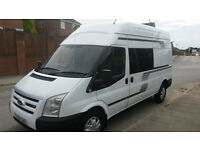 2008 FORD TRANSIT 115 T350L RWD LWB H/R Race/Kart/Week Ender 4 Berth CamperVan Long MOT MUST SEE