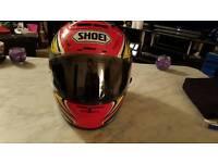 Motorcycle helmet for sale.