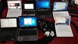 job lot laptops x2 dell i5 i3 x2 apple mac book 2010 3x hp a10 a8 i7