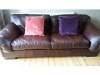 Leather Sofa - John Lewis - Java