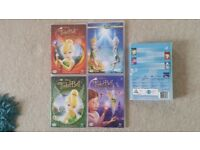 4 Tinkerbell DVD's in Great Condition