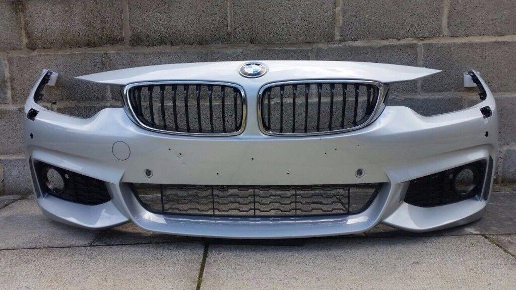 2015 BMW 4 SERIES F32 F33 M SPORT - FRONT BUMPER inc ALL GRILLS - Good Cond (3)