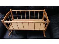 baby crib. doll's crib.