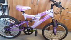 Girls bike avigo indigo, gears with suspension