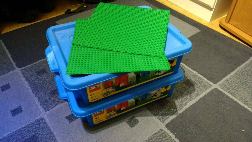 Two boxes of assorted lego
