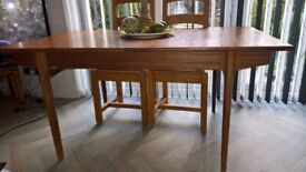 Solid Wood (Teak) Extendable Dining Table (seats 6 to 8)