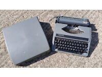 Retro Clough's Silver Reed Grey Portable Manual Typewriter