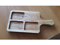 """HANDLED CHEESE PLATER/SERVING BOARD 16"""" NEW"""