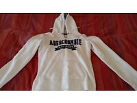 Abercrombie and Fitch Hoodie, White - Size US M