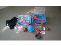 Hamster cage and accessories (including racing track!)