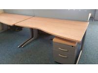 1600mm Wave desks by Senator-20 in stock