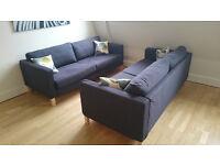 1 New dark grey fabric sofas (Karlstad from Ikea)