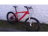 On One 456 Carbon Mountain bike. Fox forks. XT groupset. Size Medium