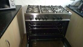 Stunning Black Kenwood Five Hob Cooker & Oven Duel Fuel