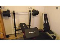 Weight benches and weights