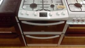ZANUSSI white 60cm Gas Cooker in new Ex Display