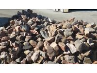 Sold pending collection Free to uplift approx 6 tonnes of stones used for dry stone walls.