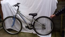 Ladies bike 18 gears. Really good condition. Silver.