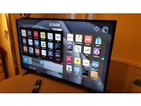 LUXOR 43-Inch SMART 4K ULTRA HD LED TV, Built-in Wifi,Freeview HD,Netflix, FULLY WORKING