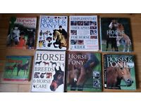HORSE BOOKS FOR SALE - SOLD AS BUNDLE