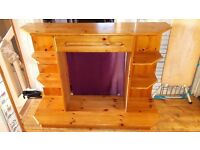 Electric Fireplace Surround hand crafted, pine
