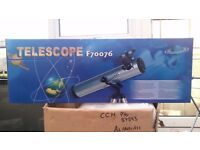 Telescope 700 76 F70076 Astronomical Reflector Black BRAND NEW IN BOX