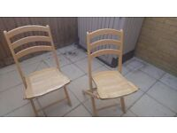 Solid wood foldable chairs