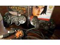 Ps3 console, controllers and games