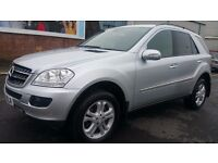 MERCEDES ML320 CDI SPORT+LOW MILEAGE 60K+ONE OWNER+BLACK LEATHER 12MONTHS MOT+Sat Nav+GOOD CONDITION