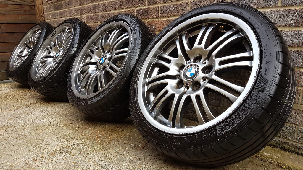 Genuine Staggered Bmw E46 M3 18 Quot Alloy Wheels With Tyres
