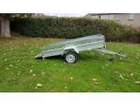 BRAND NEW MODEL 7.7 x 4.2 SINGLE AXLE TIPPING FLAT TRAILER 750KG