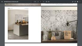 Unicom Starker Apogee Italian tiles (grey, to cover ~9.25m2)