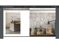Italian tiles - Unicom Starker Apogee, grey (to cover ~9.25m2)