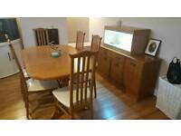 Table & 6 chairs with matching sideboard