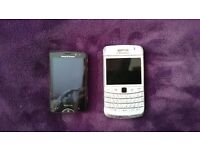 Sony Xperia Mini & Blackberry Curve with SD Cards