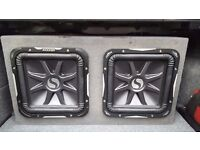 "Kicker L7 12"" Twin Custom Ported Box With Amp"
