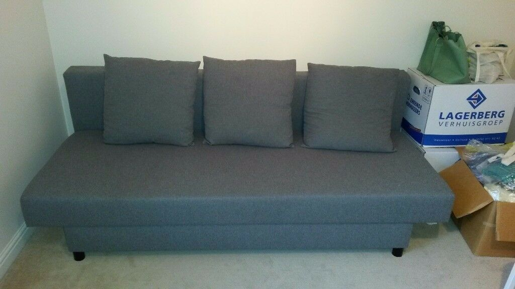 three sit sofa bed asarum ikea in abingdon oxfordshire gumtree. Black Bedroom Furniture Sets. Home Design Ideas