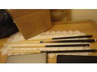 pool table sticks