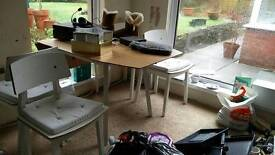 IKEA Bamboo drop leaf table and 4 chairs
