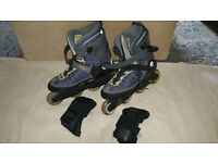 K2 Velocity inline skates Mens size 9 abec 5 bearings