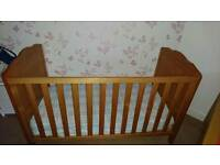 Cot/Toddler bed and mattress