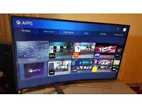 "SAMSUNG 49"" CURVED SCREEN 4K Ultra HD HDR Smart LED TV -UE49KU6100,built-in Freeview HD & Freesat HD"