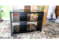 lovely TV STAND / IDEAL FOR LARGE FLAT SCREEN TV /BLACK GLASS