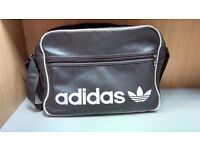 Brown addidas sport side bag
