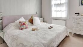 Gorgeous double bed - suede