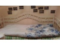 Day Bed in Metal Frame with Mattress