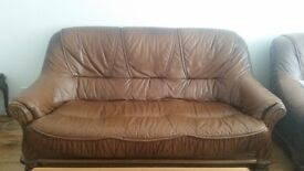 5 parts leather furniture for living room excellent condition