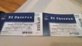 2 x ED SHEERAN TICKETS 02 ARENA 22ND JUNE